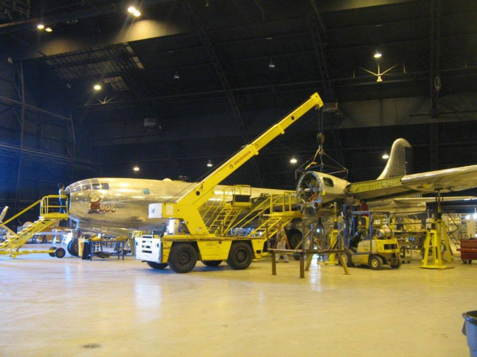 Engine Nacelles and Propellers Ready For B-29