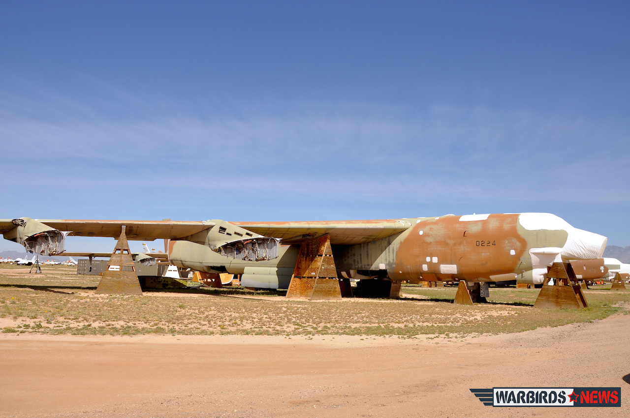 "This is picture was taken three weeks ago at AMARG. This B-52G is known by AMARG's personnel as ""The last cut."""