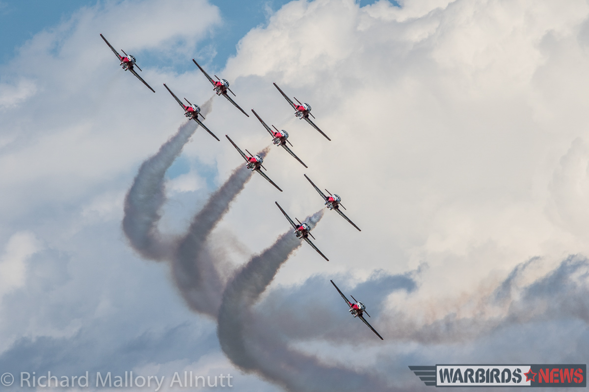 One of the finest aerial demonstration teams in the world, the RCAF Snowbirds visited AirVenture 2016 for the first time in more than three decades. (photo by Richard Mallory Allnutt)