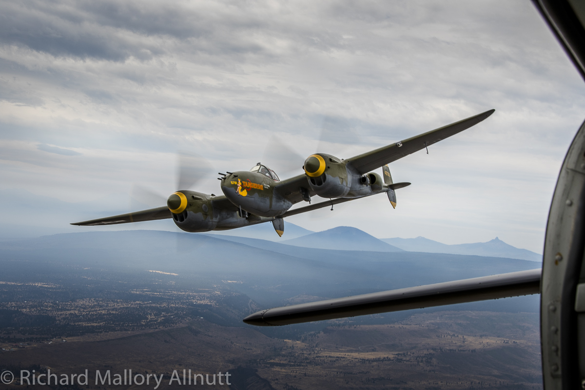 The EAC P-38 Lightning. (photo by Richard Mallory Allnutt)