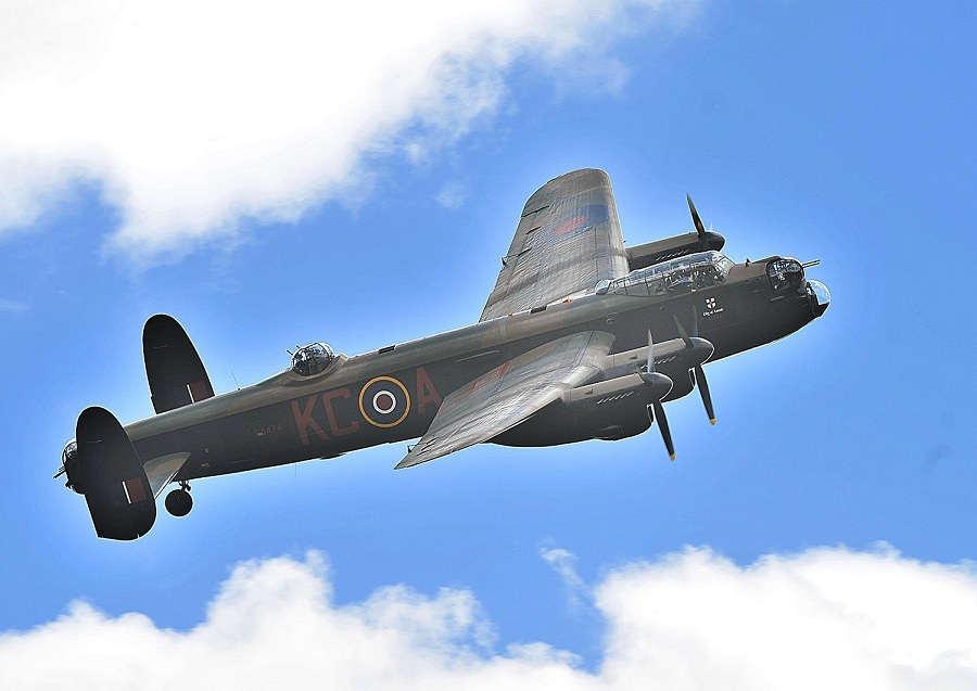 RAF Battle of Britain Memorial Flight Avro Lancaster scheduled to do a flypast for the RAF Museum's Battle of Britain Weekend. (Image Credit: Royal Air Force Museum)