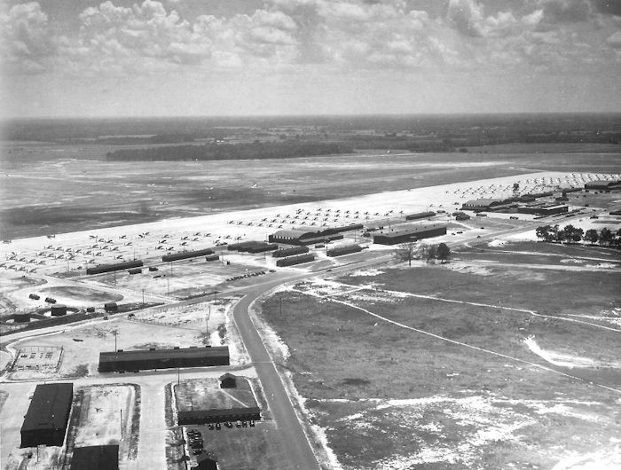 Bainbridge Army Air Field at the peak of its activities in 1944. (photo via Wikipedia)