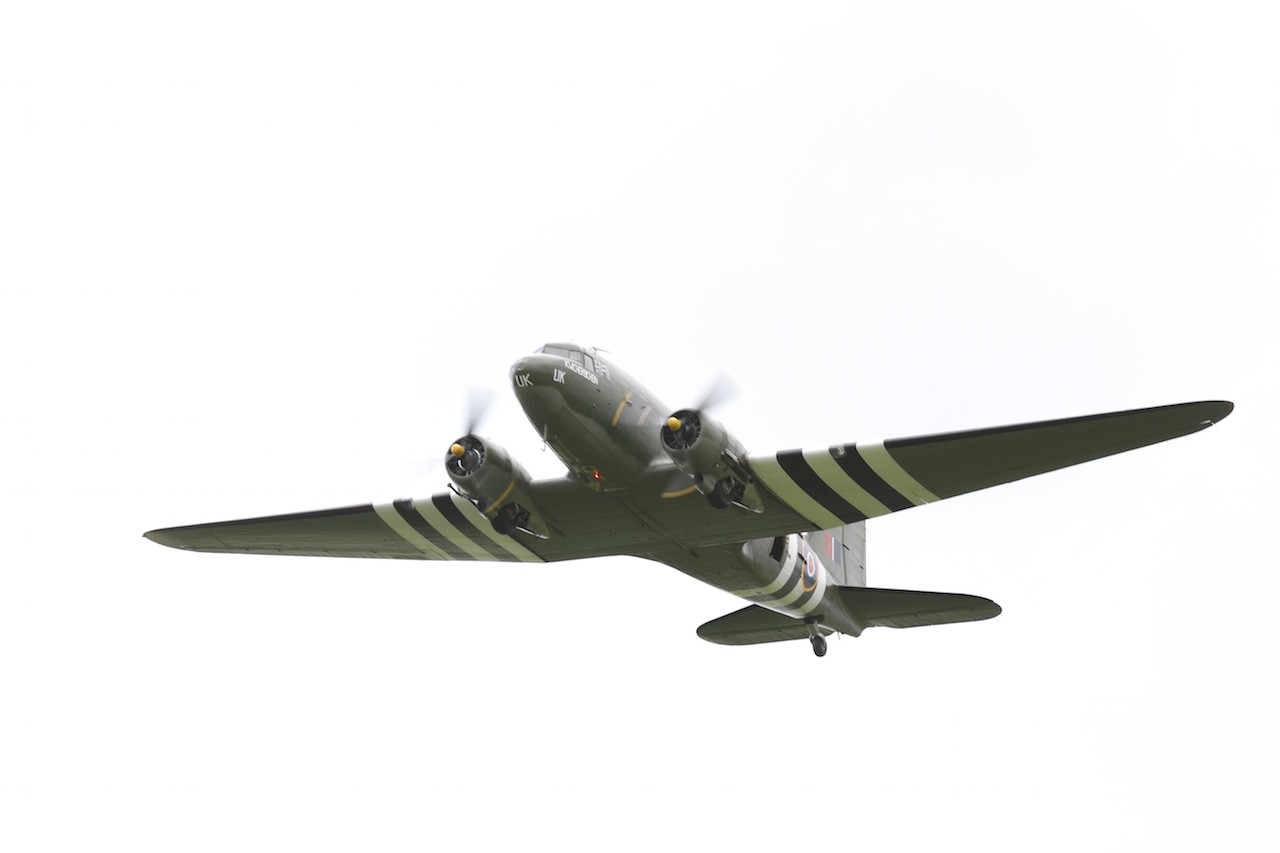 The C-47 of  Battle of Britain Memorial Flight ( ('©Trustees of the Royal Air Force Museum')