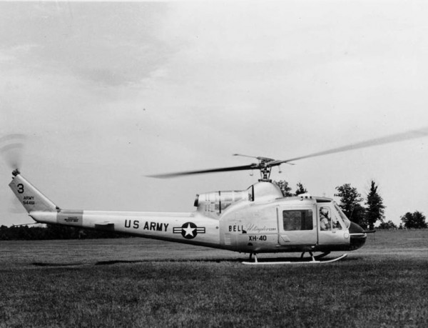 Bell XH-40, a prototype of Bell UH-1. ( Image credit via Wikipedia Public Domain, U.S. Army Photograph)