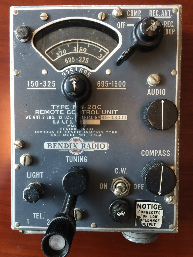 The ultra-rare Bendix Remote Control Unit for the radio. (photo via Tom Reilly)