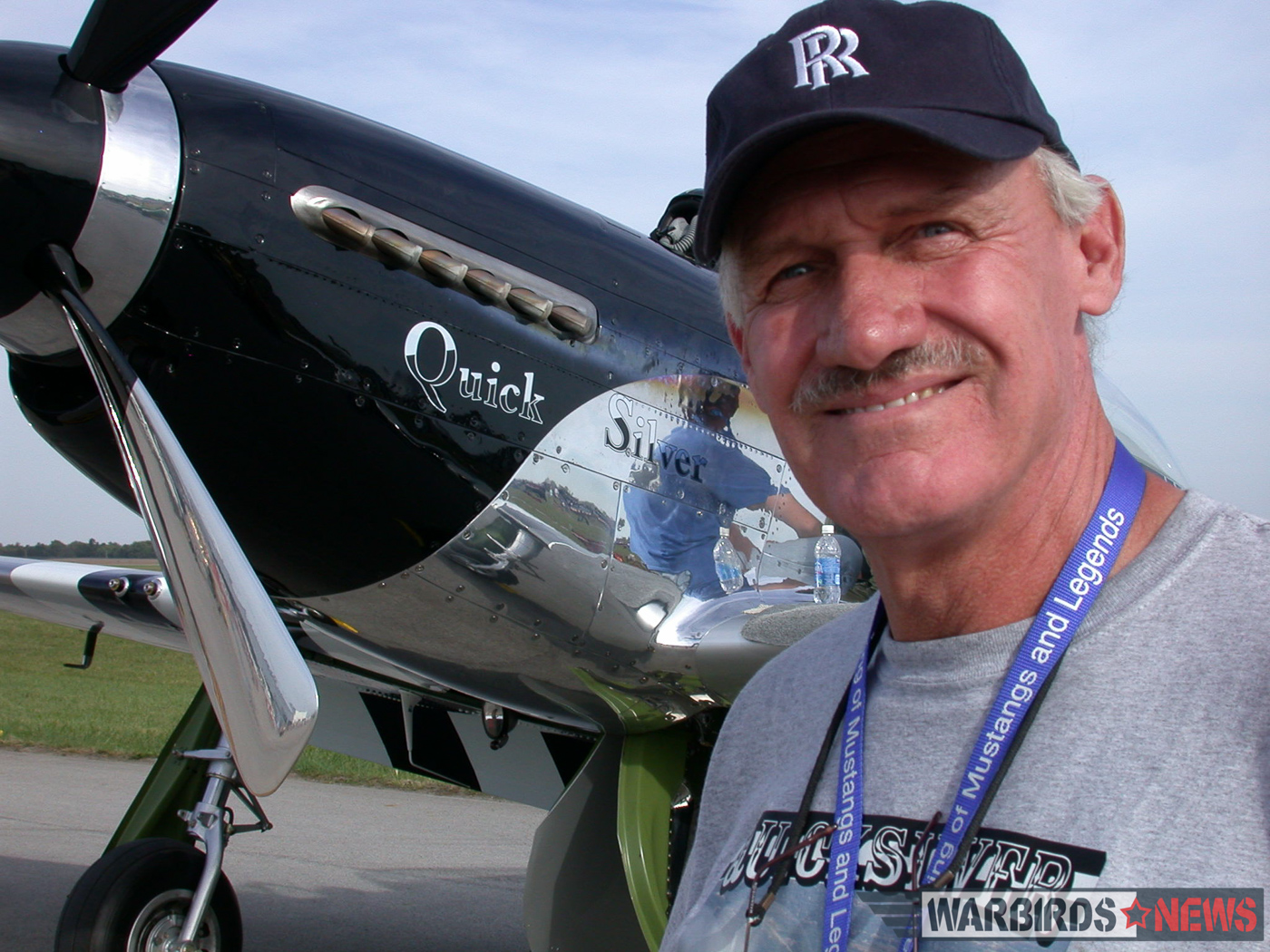 Bill Yoak at the Gathering of Mustangs and Legends in 2007. (photo by Jerry O'Neill)
