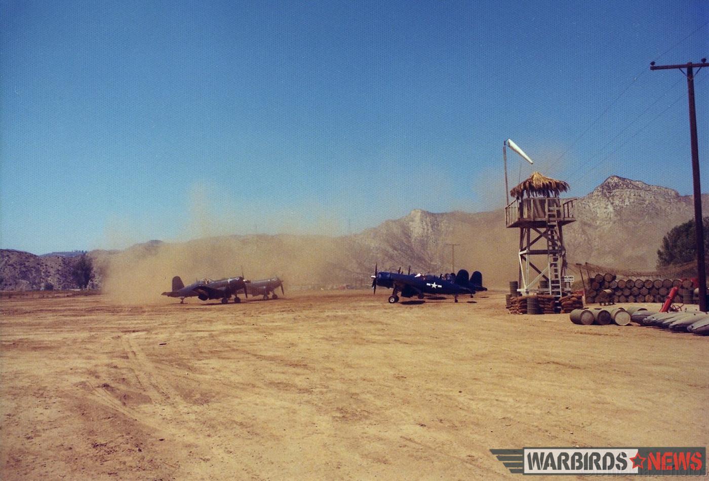Corsairs and dust. (photo via Stephen Chapis)