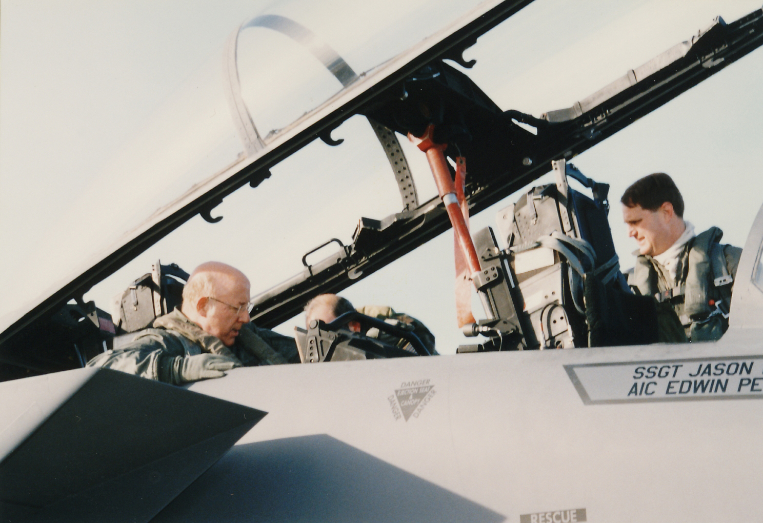 Robert F. Dorr about to fly in a 90th FS F-15E Strike Eagle. (photo via Robert F. Dorr)