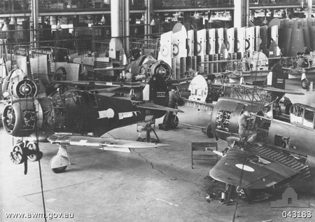 Boomerang production line at Fisherman's Bend. (photo via wikipedia)