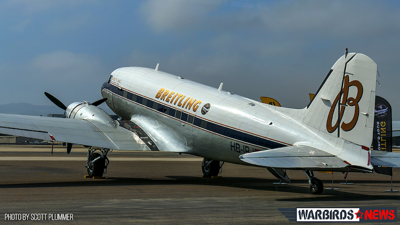 Breitling DC-3 On The Ramp At Lyon Air Museum copy