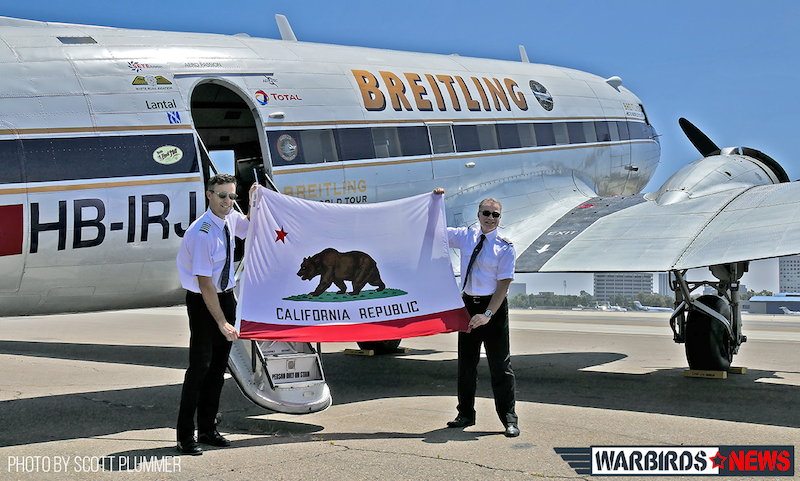 Breitling DC-3 With Flight Crew and California State Flag copy