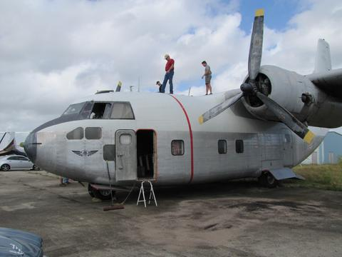 The museum's flight crew inspected the C-123 on November 6th in Ft. Lauderdale, FL. ( Image credit Hagerstown Aviation Museum)