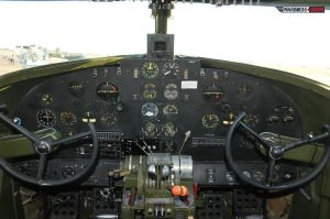 In the Cockpit of the CAF Houston Wing's C-60 (Image Credit: Luigino Caliaro)