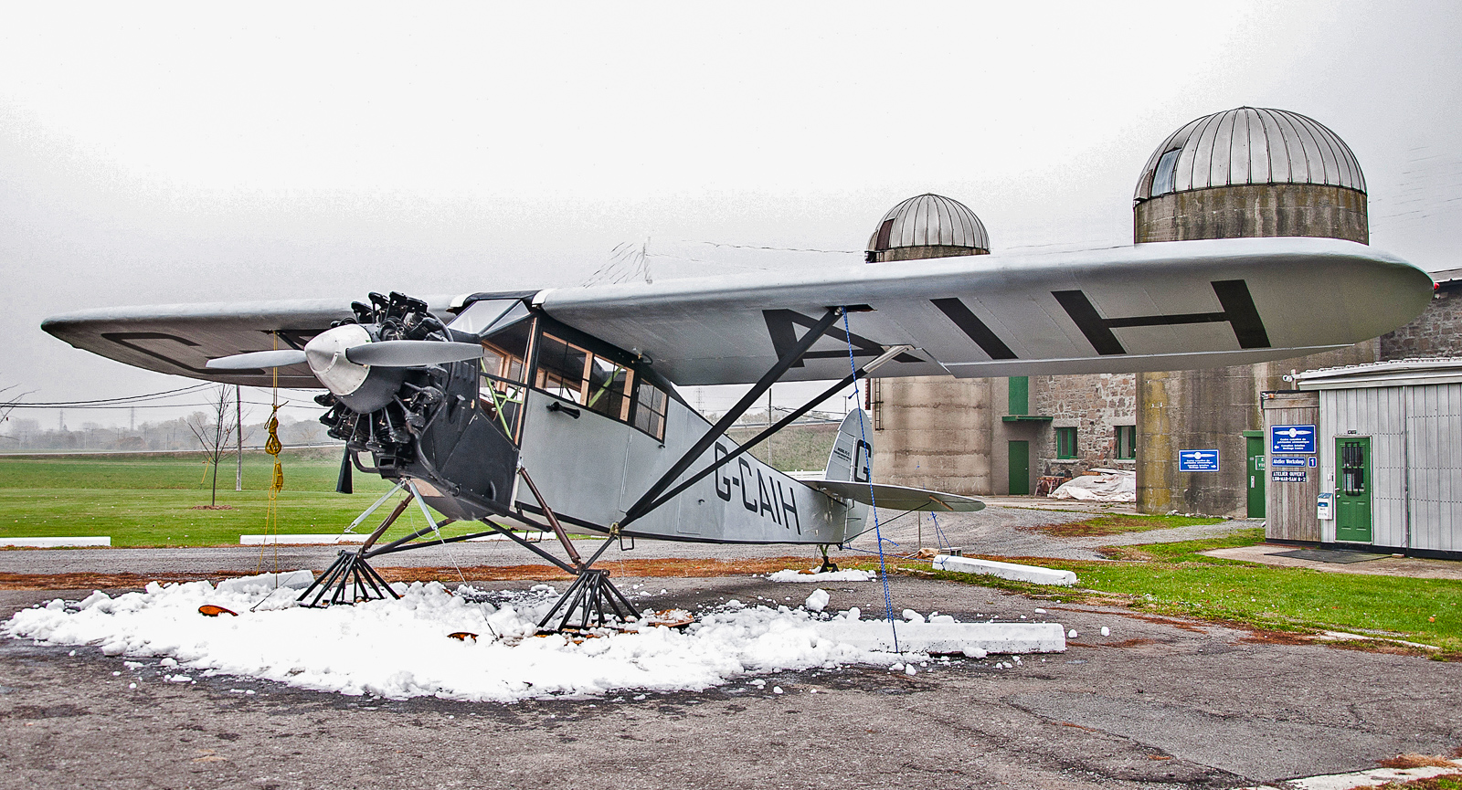 The replica Fairchild FC-2 outside the museum. (photo by Robert St.Pierre)