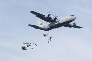 RAF C-130 drops supplies (Image Credit: Royal Air Force)