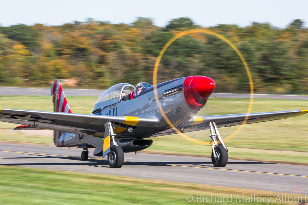 Once known as 'Tempus Fugit', this two-seat Mustang made a spectacular appearance at the Culpeper Airfest. (photo by Richard Mallory Allnutt)