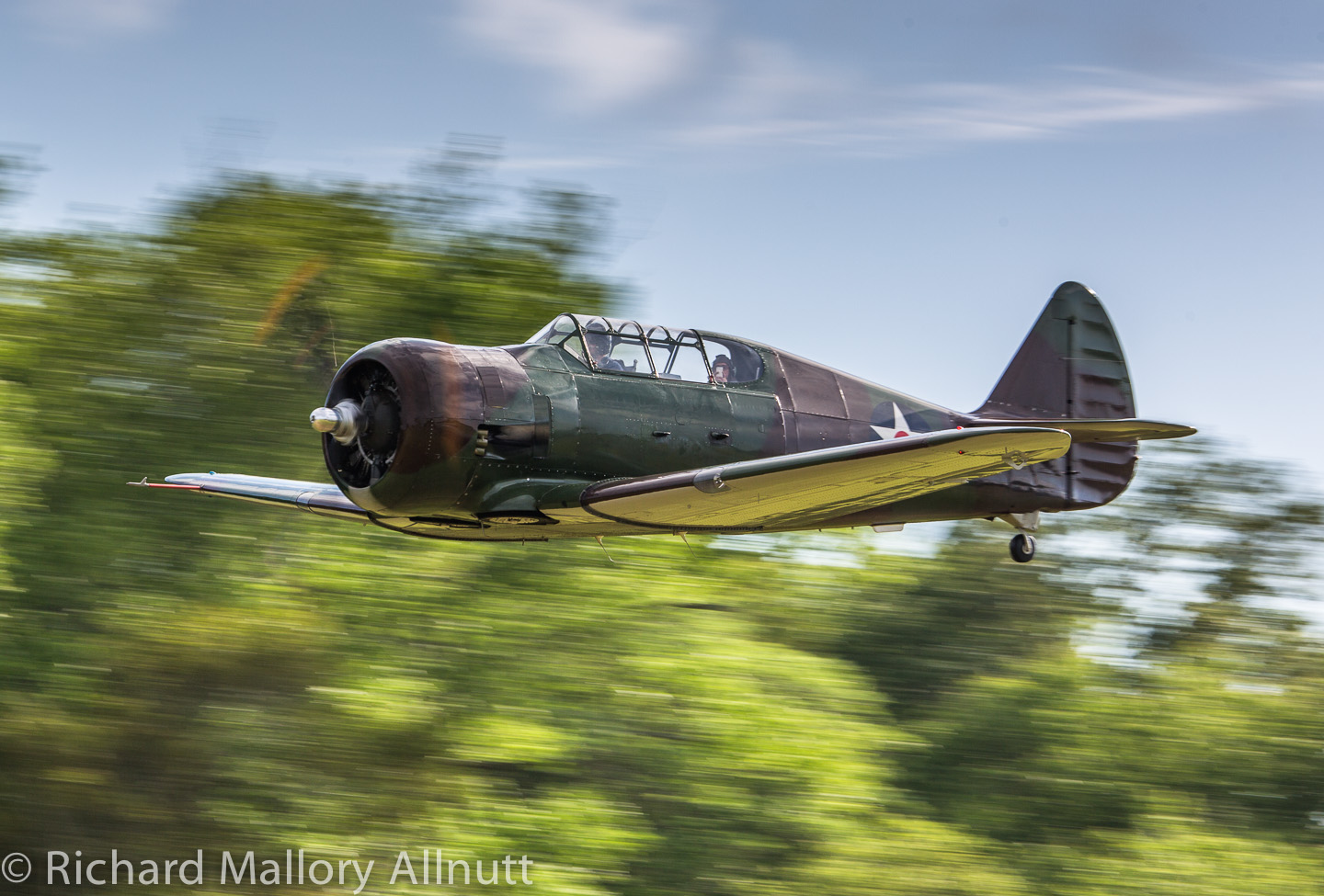 The P-64 making a low pass following its arrival at Pungo. (photo by Richard Mallory Allnutt)
