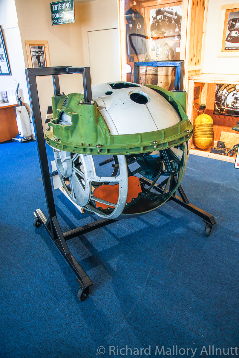 The fully restored ball turret which will go into Lacey Lady when she's ready to receive it. (photo by Richard Mallory Allnutt)