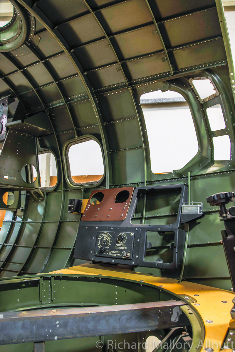 A view inside the fully restored forward nose section from Lacey Lady. (photo by Richard Mallory Allnutt)