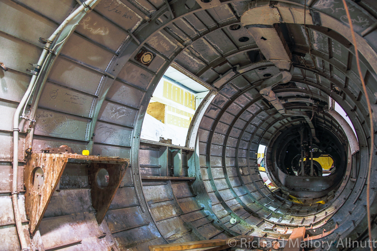 Another interior view of the rear fuselage. (photo by Richard Mallory Allnutt)