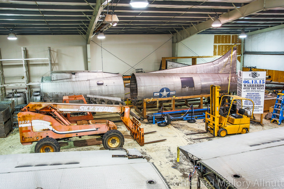 Looking down at the main fuselage in its jig. (photo by Richard Mallory Allnutt)