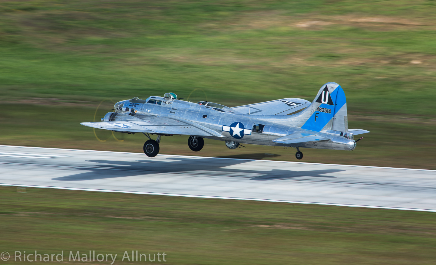 The CAF's B-17G Sentimental Journey. (photo by Richard Mallory Allnutt)