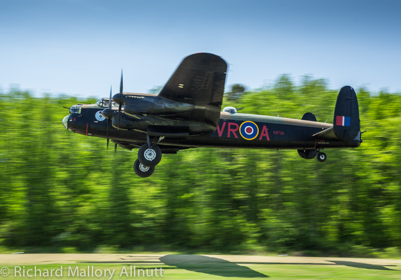 CWH Lancaster X takes off from Pungo