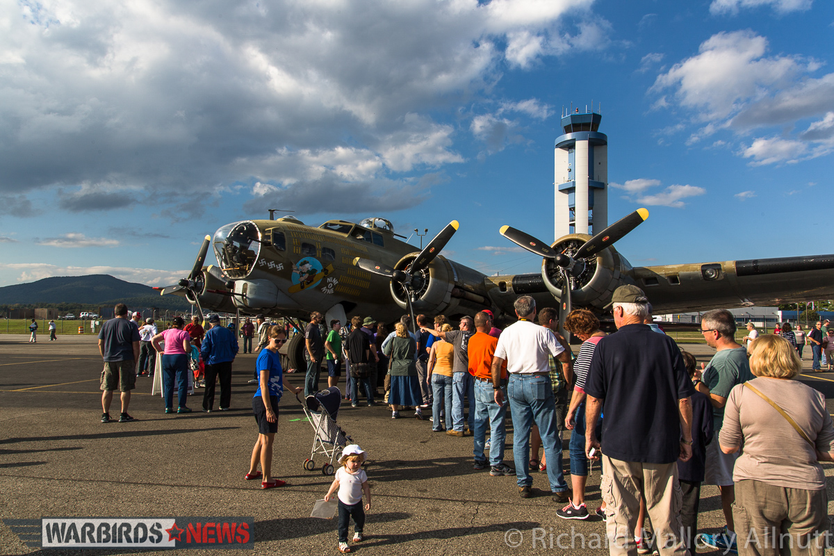There were long lines to see inside the bombers. (photo by Richard Mallory Allnutt)