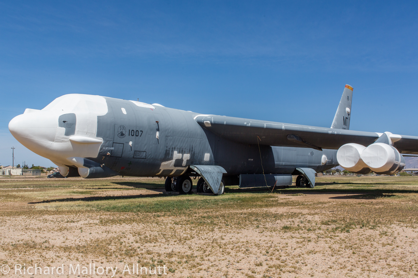 '007 'The Ghost Rider' in storage at AMARG in March, 2014 during a visit by WarbirdsNews. (photo by Richard Mallory Allnutt)