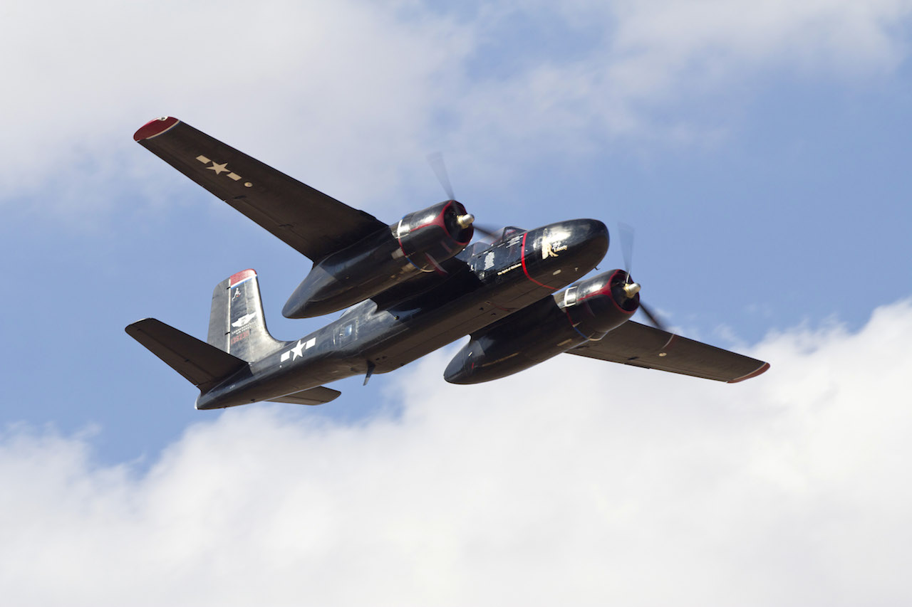 The A-26 flying at last year CAF AIRSHO. ( Photo by Kevin Hong)