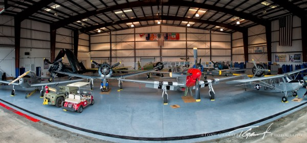 "P-51, FG-1D Corsair, SBD-% Dauntless, Lt-6 Mosquito, PT_26, L-16, ""Zero"", ""Kate"", SNJ and a P-63 Kingcobra..lots to see at the Dixie Wing. ( IMage credit by Tony Granata)"