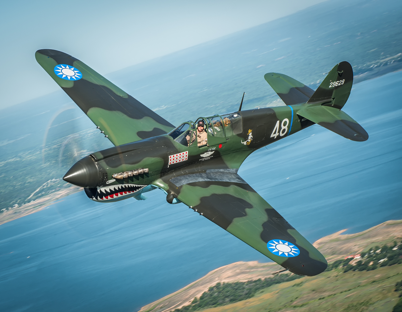 The CAF P-40 Warhawk.Photo by Glenn Watson