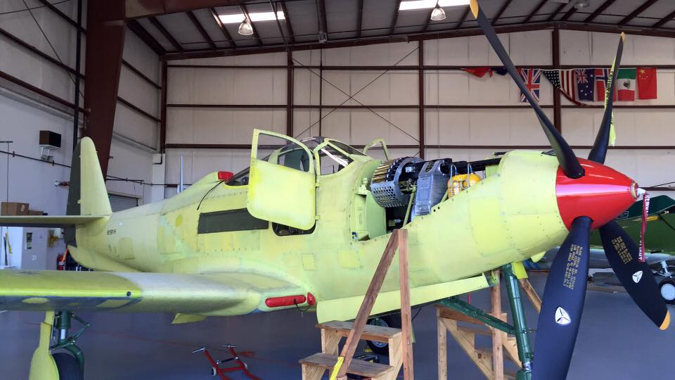 The CAF Dixie Wing's P-63A seen here in a recent photograph. She too should be flying again in the near future. (photo via CAF Dixie Wing)