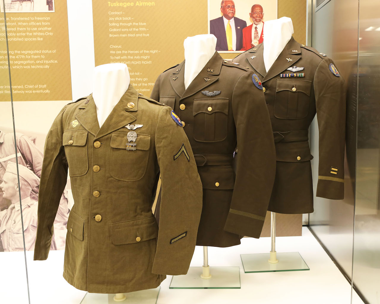 WW2 Army Officer's Dress Coat Belonging to William J. Faulkner who was killed on November 7, 1944. Faulkner was a graduate of Morehouse College in Atlanta. On Loan from the Alan B. Taylor Collection, Springfield Ohio