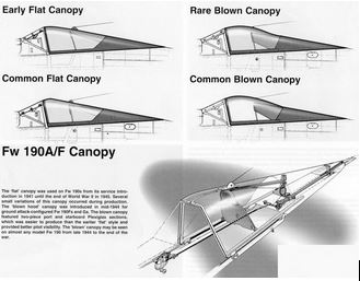 A short treatise on the different canopy styles used on the Fw 190. (image via Phil Buckley)