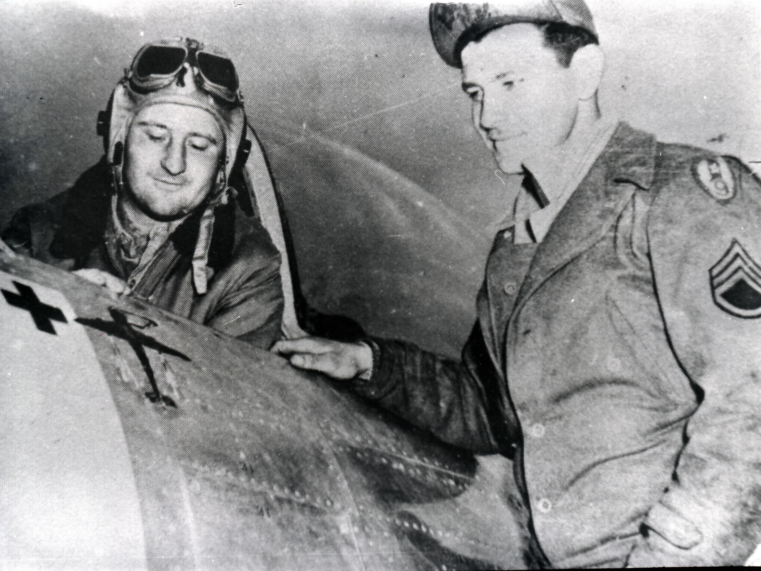 Capt Valmore J. Beaudrualt & CC Sgt Bruno Kupis- Priscilla Beaudrault