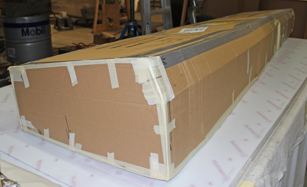 Cardboard fuel tank patterns. (photo via Tom Reilly)