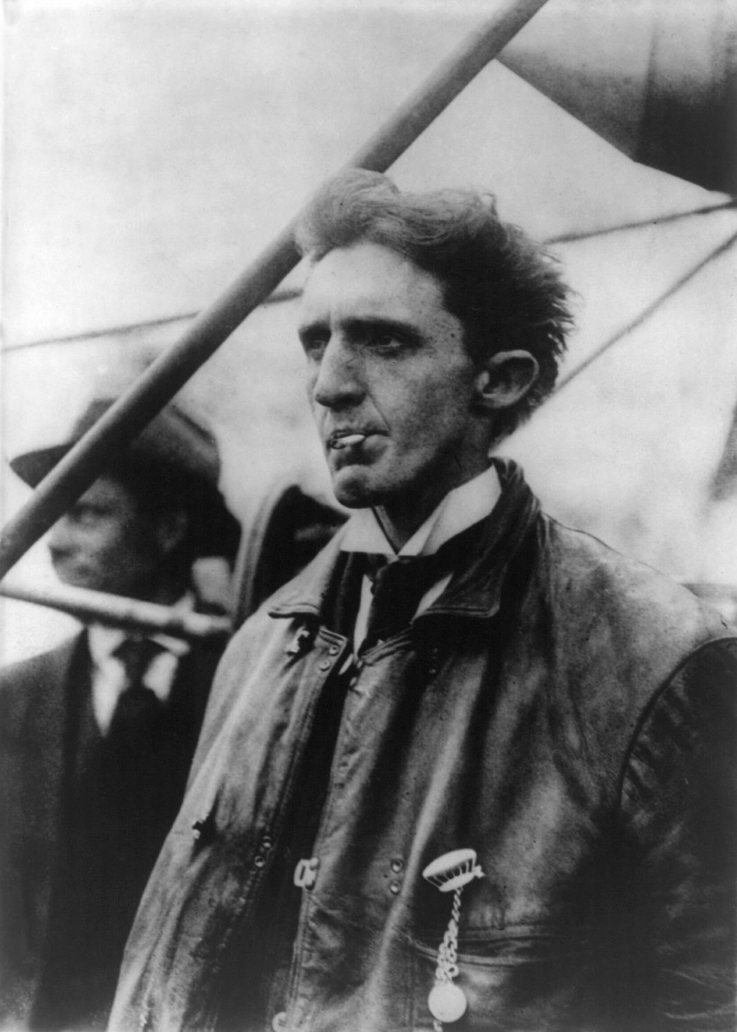"Charles K. Hamilton, aviation pioneer and aerial daredevil - known as the ""Crazy Man of the Air"", he survived over sixty aircraft crashes. Photo circa 1910 via wikipedia"