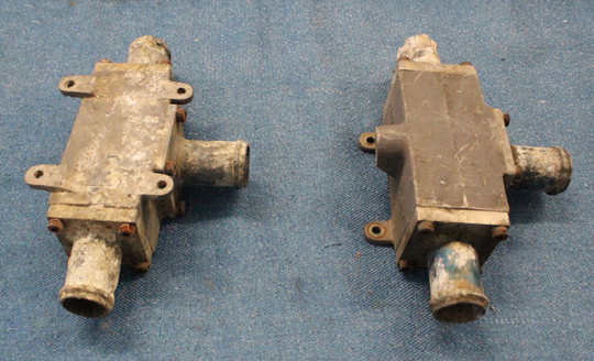 Fuel check valves, before restoration. (photo via Tom Reilly)