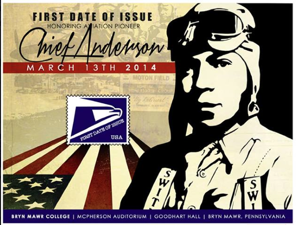 Chief Anderson will be honored with a United States Postal Stamp