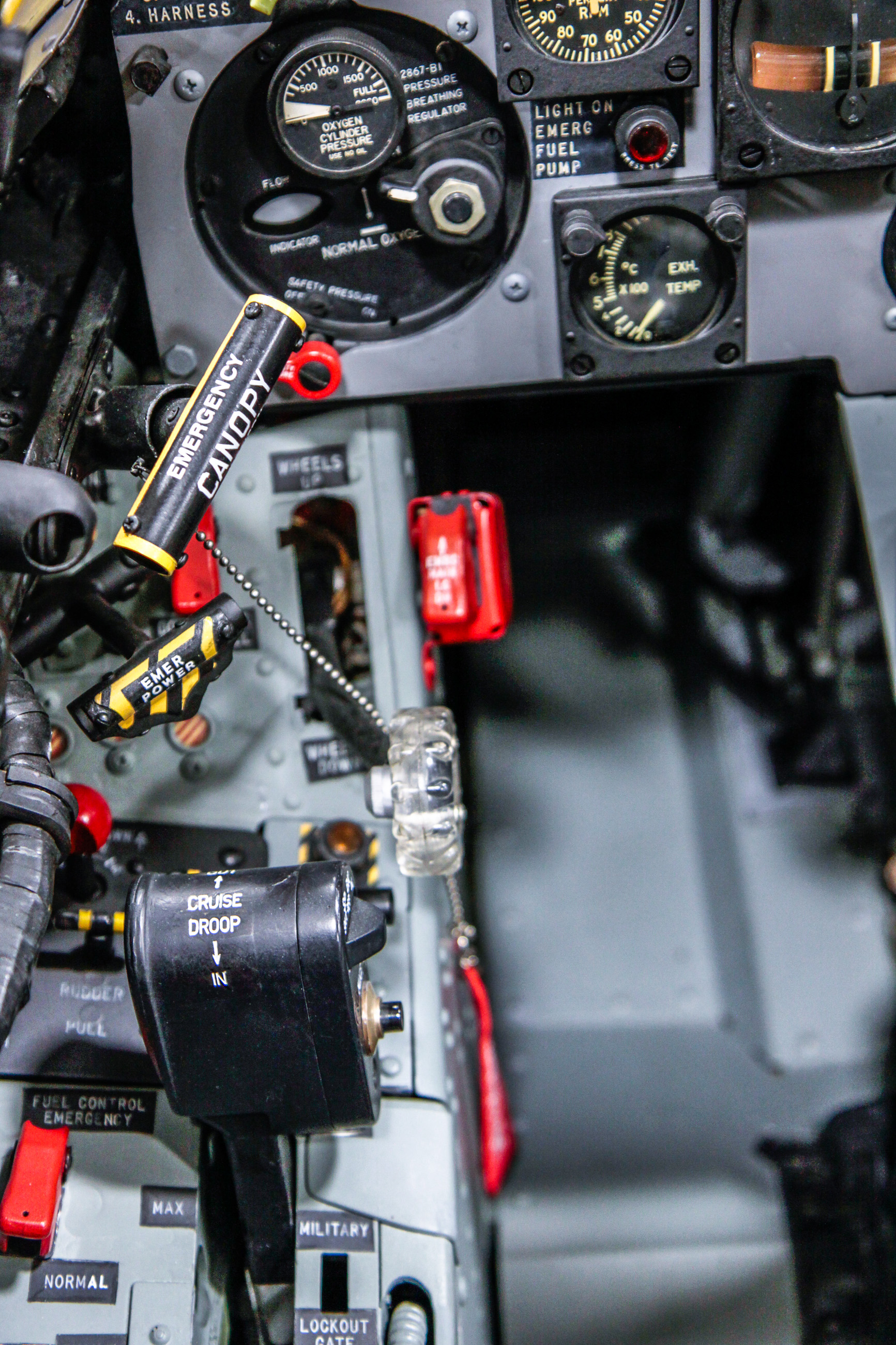 The Museum of Flight's restoration team performed a magnificent restoration of their Chance Vought XF8U-1 Crusader prototype. Here is some of the cockpit detail to show just how closely their team paid attention to the little details. (photo by Ted Huetter/Museum of Flight)