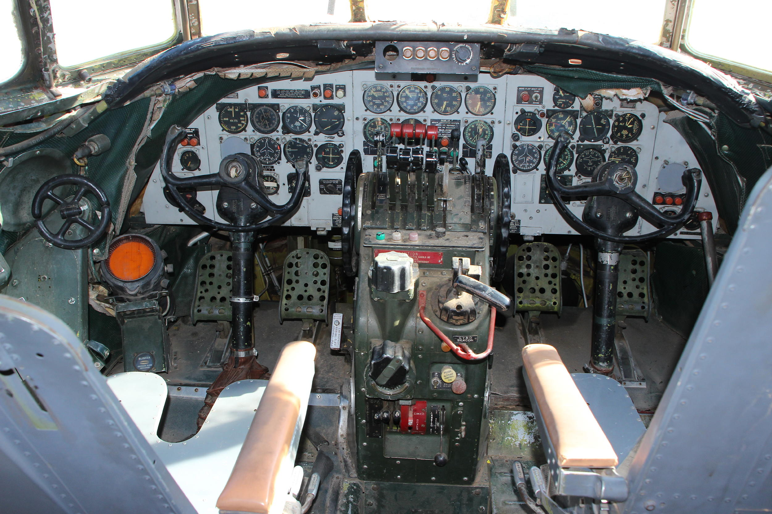 Columbine II's cockpit. (Ken Stoltzfus photo)