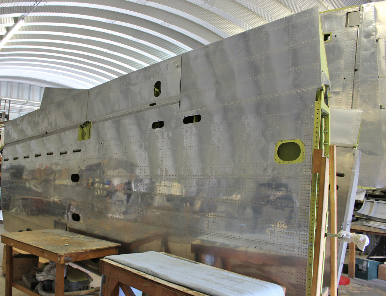 The completed outer wing panel. (photo via Tom Reilly)