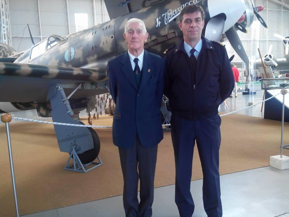Con Franco Benetti, pilota 2°Gruppo caccia ANR