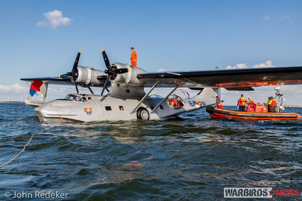 PBY-5A on the IJsselmeer. (photo by John Redeker)