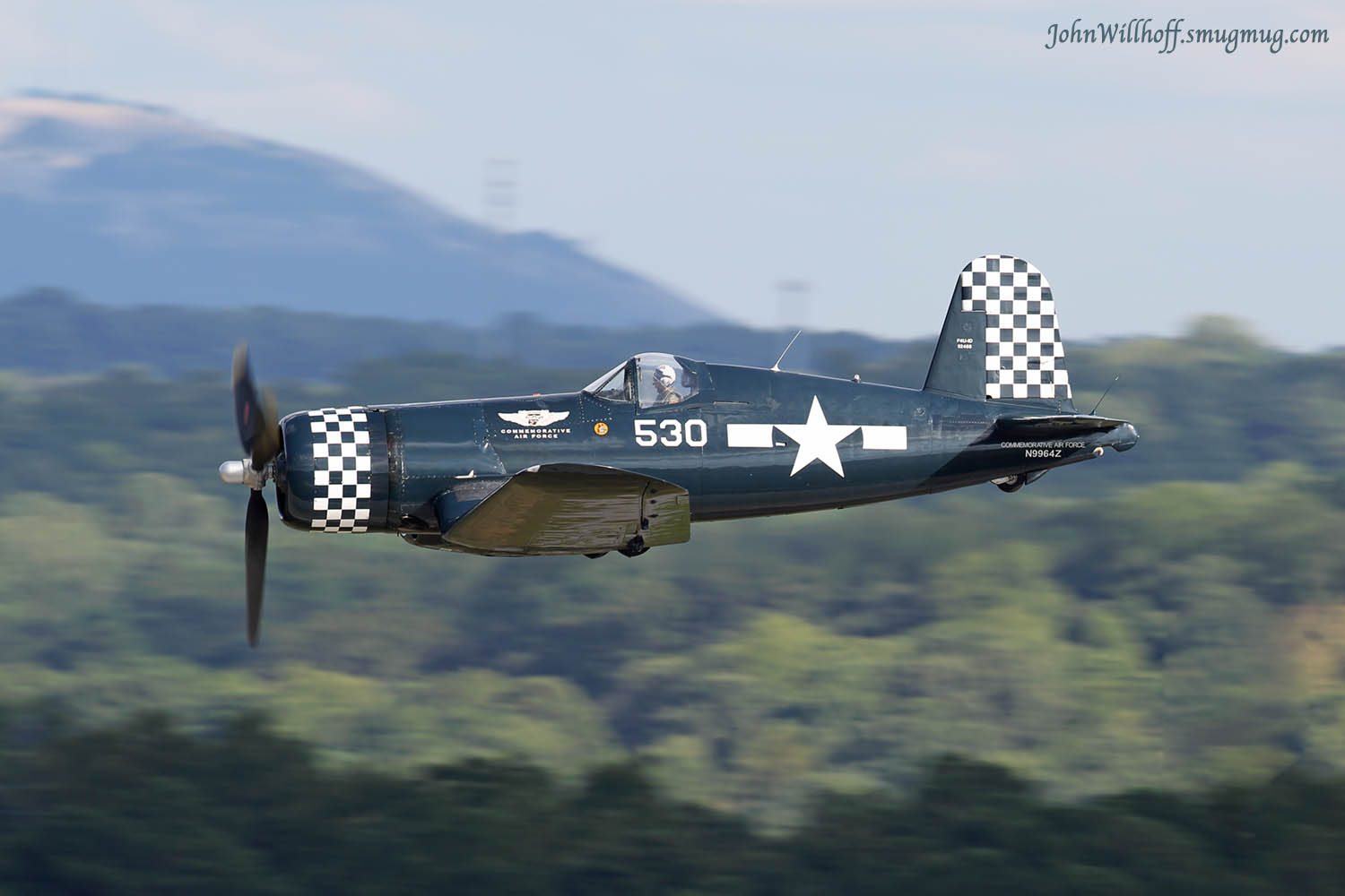 "The CAF Dixie Wing's FG-1D Corsair will be featured in the daily ""Warbird in Review"" session. ( Photo by John Willhoff)"