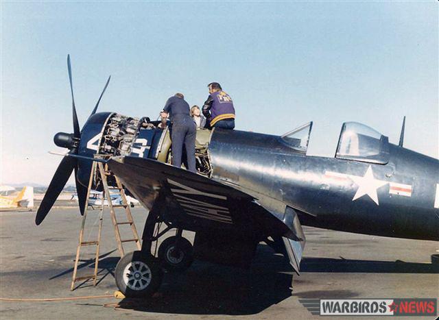 Bu.97359 while undergoing maintenance when owned by Dan Friedkin. (photo via Stephen Chapis)