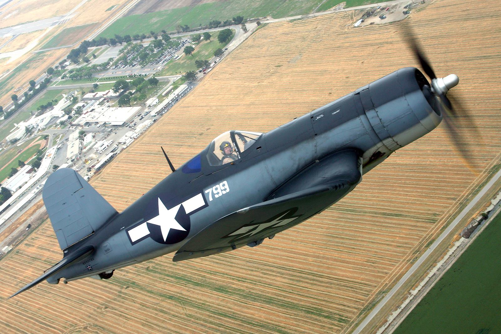 The Planes Of Fame Corsair, one of the few in the word with a passenger seat located behind the pilot. ( Photo by Frank Mormillo via Chris Fahey)