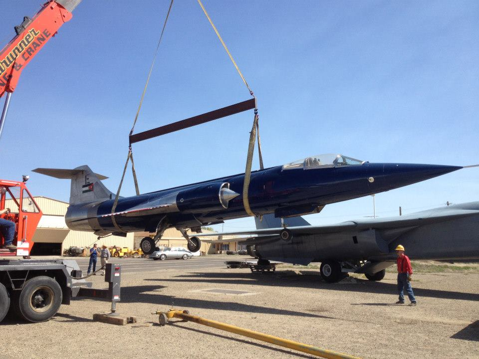 The CF-104 the day of its arrival at the museum in 22013.