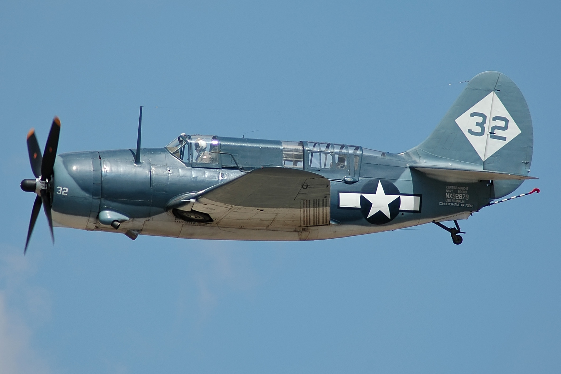 Curtiss SB2C Helldiver of the  Commemorative Air Force. ( GNU Free Documentation License)